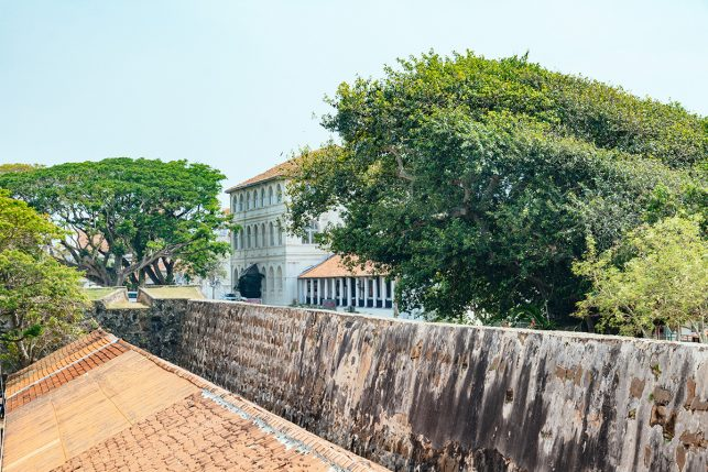 Amangalla as seen from the other side of the ramparts - the unique luxury hotel is part of the UNESCO World Heritage site Galle Dutch Fort