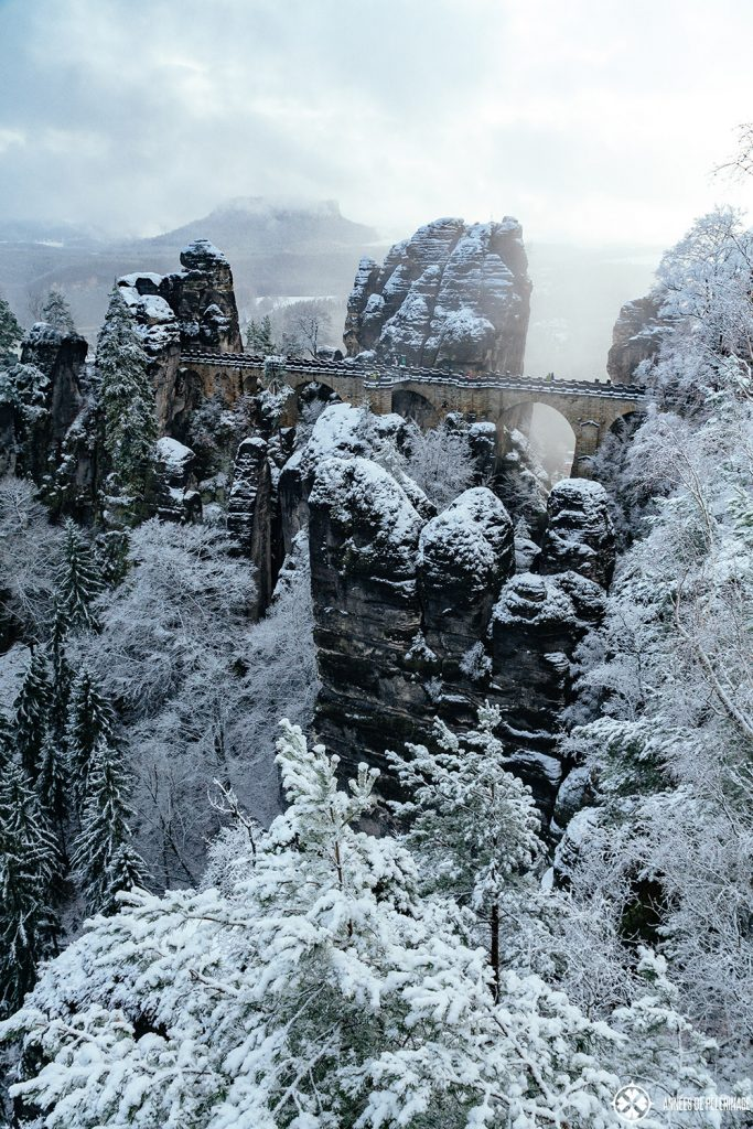 Bastei Bridge in Winter - my favorite time of the year