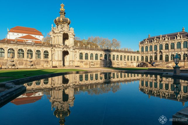 The Zwinger very early in the morning and without the crowds