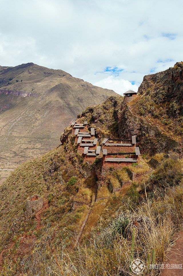 The ancient grannaries in Pisac, Peru