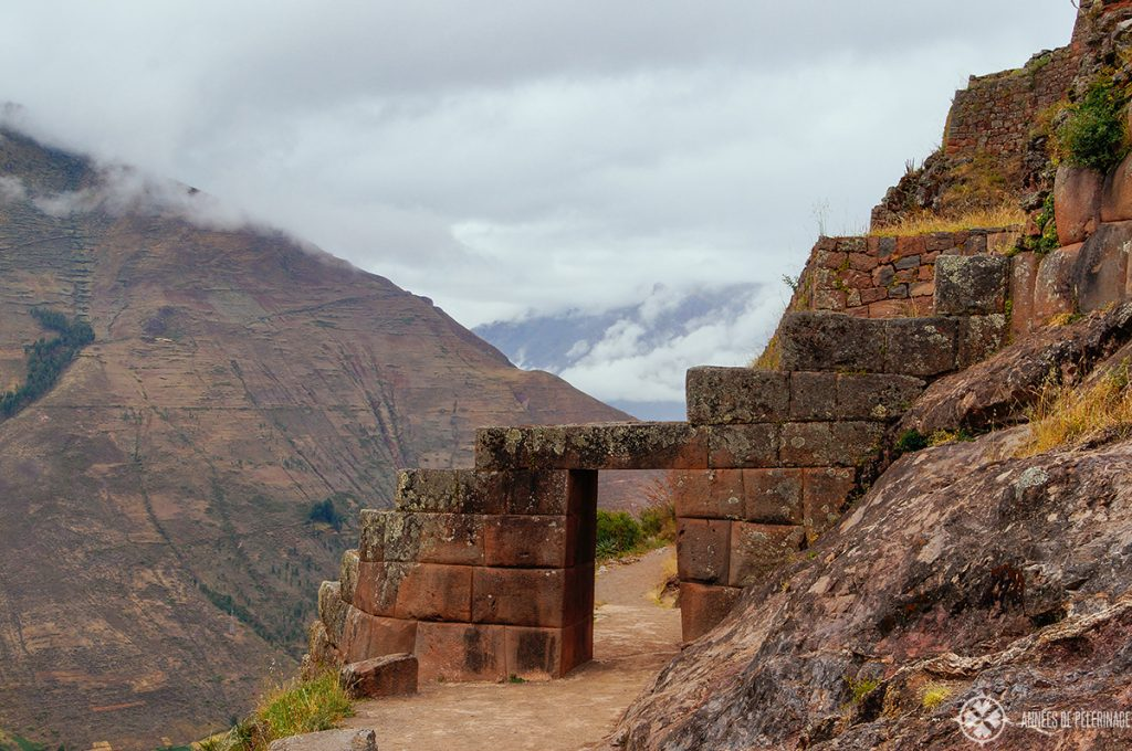 A beautiful gateway leads onwards to the other ruins and the temple district of Pisac