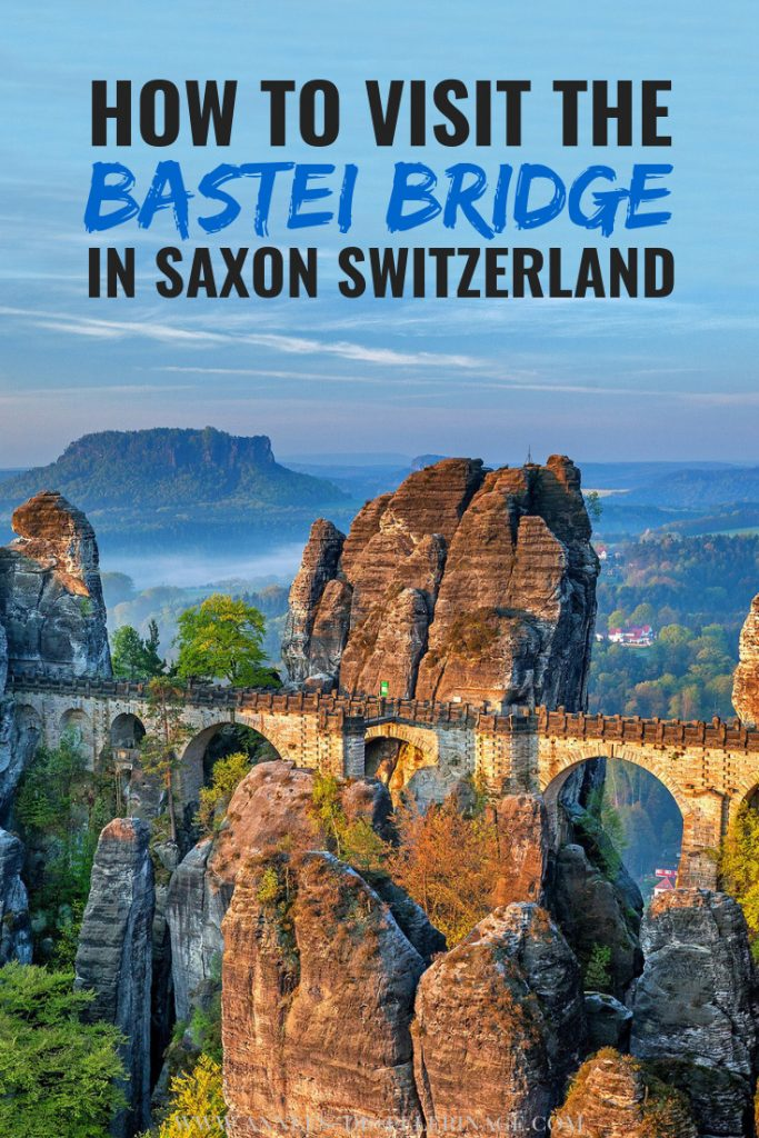 How to visit the Bastei Bridge in Saxon Switzerland on a daytrip from Dresden, Germany. Everything you need to know: How to get to Bastei bridge from Dresden by bus, boat or train, where to stay and what to expect