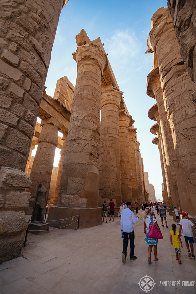 The mighty hypostyle hall of Karnak temple