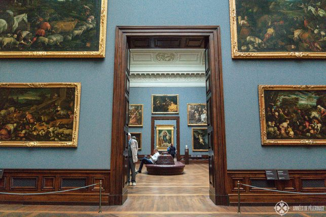 Inside the Old Masters Gallery  in Dresden, Germany