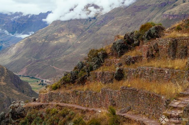 The beautiful trail leading up to the ruins of Pisac