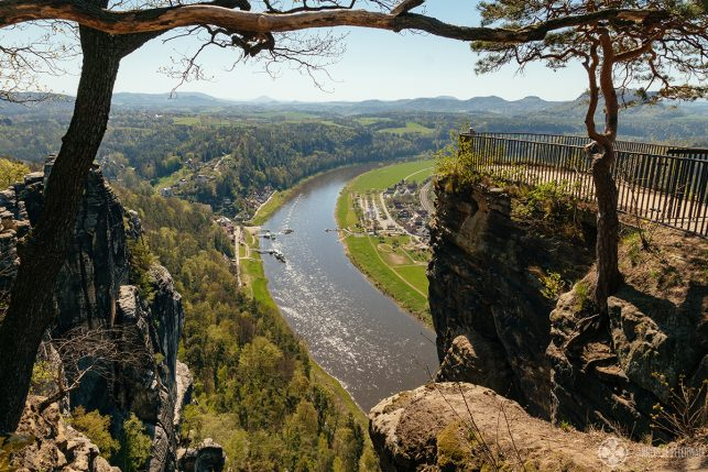 The famous Bastei viewing platform