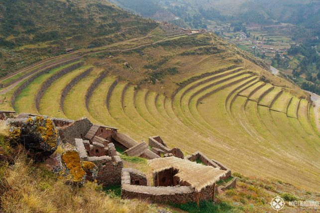 View of the agricultural terraces from the Pisac ruins