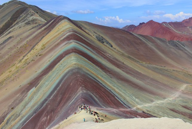 The famous Rainbow Mountains - one of many free things to do in Cusco