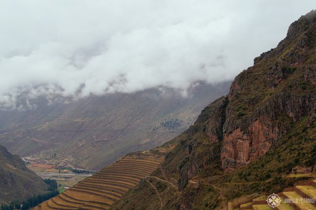 Impossible huge agricultural terraces above Pisac