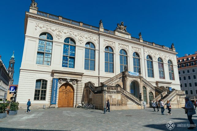 The historic main building of the Traffic Museum in Dresden