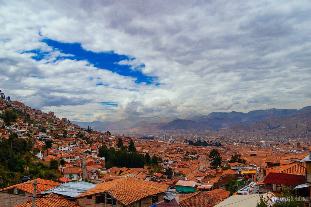 The view on Cusco from the quarter of San Blas