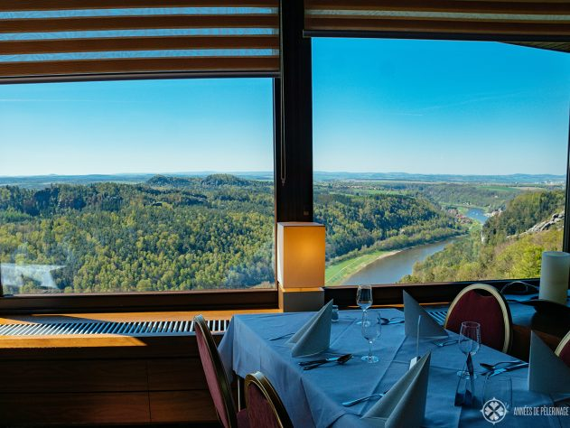View from the restaurant at Bastei bridge, Germany