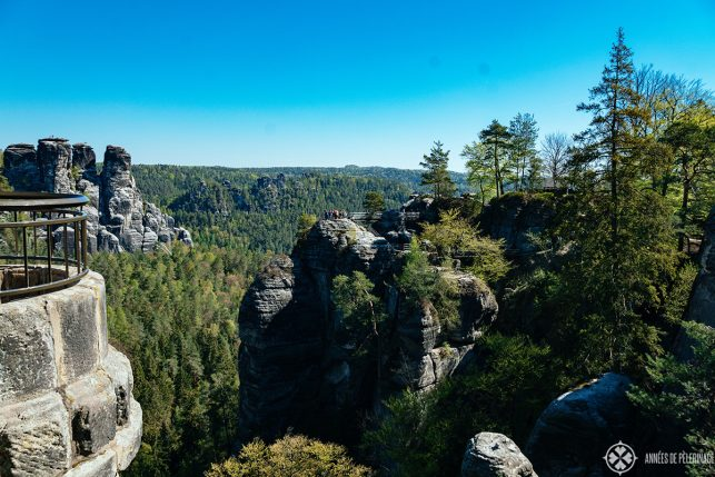 view of Saxon Switzerland from Bastei Bridge