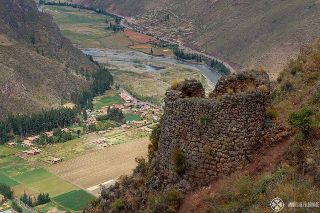 View of the Sacred Valley from Pisac ruins - just a short day trip from Cusco away