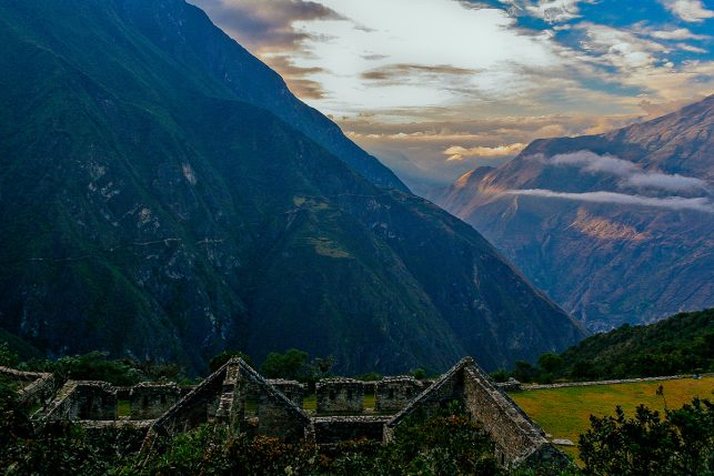 The Inca ruins of Choquequirao in the early morning light.