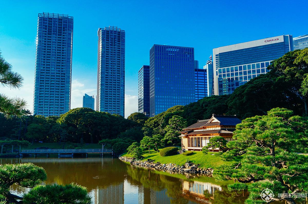 The Hamariyku gardens in Tokyo, Japan