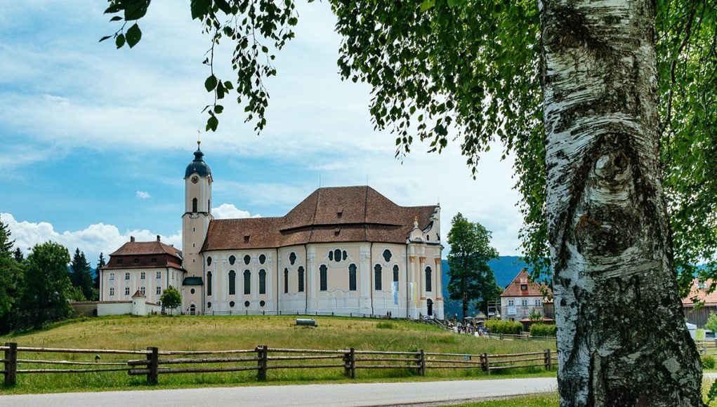 The Wieskirche pilgrimage church in Steingaden - only a short day trip from Munich away
