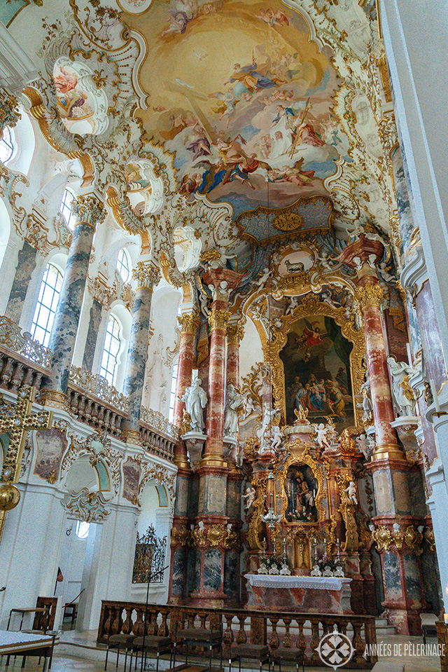 Close-up of the altar inside the Wieskirche