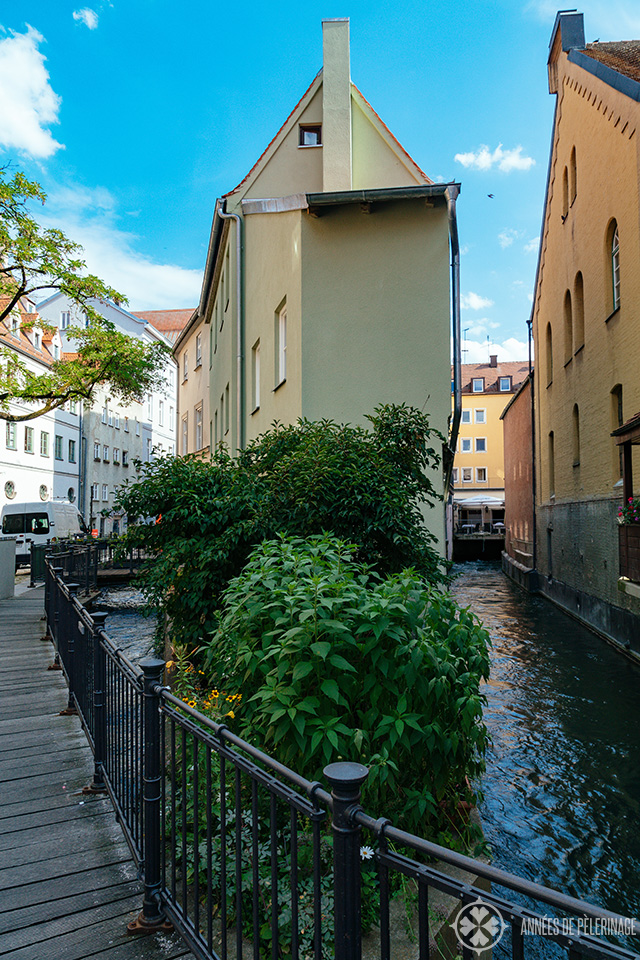 water channels in the Lech Quarter of Augsburg near the Brecht house