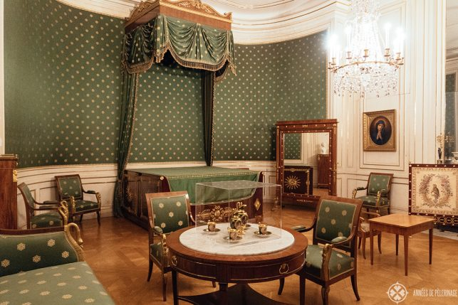 The birth room of King Ludwig II of Bavaria inside Nymphenburg palace