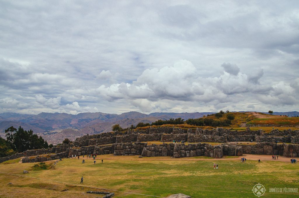 Full view of Sacsayhuaman ruins, in Cusco, Peru