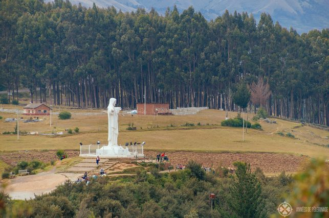 The Cristo Blanco statue in the vicinity of Sacsayhuaman which offers a lovely view of Cusco