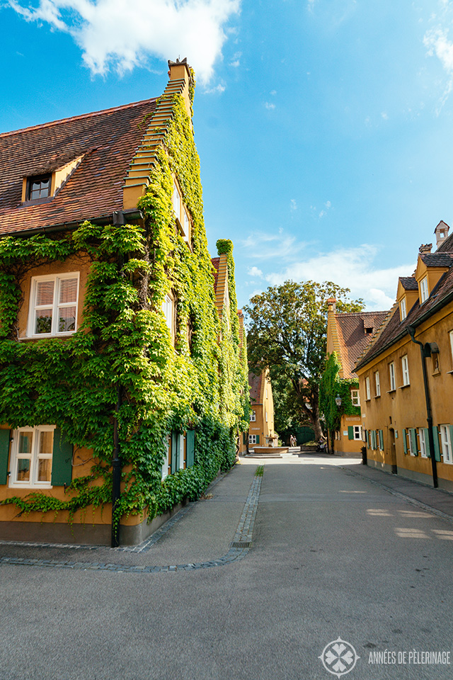 Houses inside the Fuggerei - the oldest social housing complex in the world