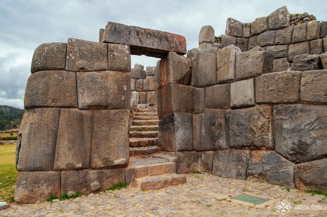 No mortar was used to fit the stones of the amazing gates into Sacsayhuaman Inca fortress above Cusco