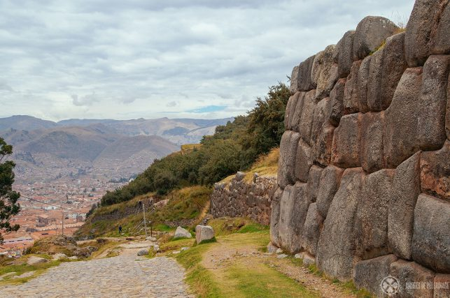 The path leading towards Sacsayhuaman from Cusco - it's not a long hike, but can be quite strenous due to the high altitude