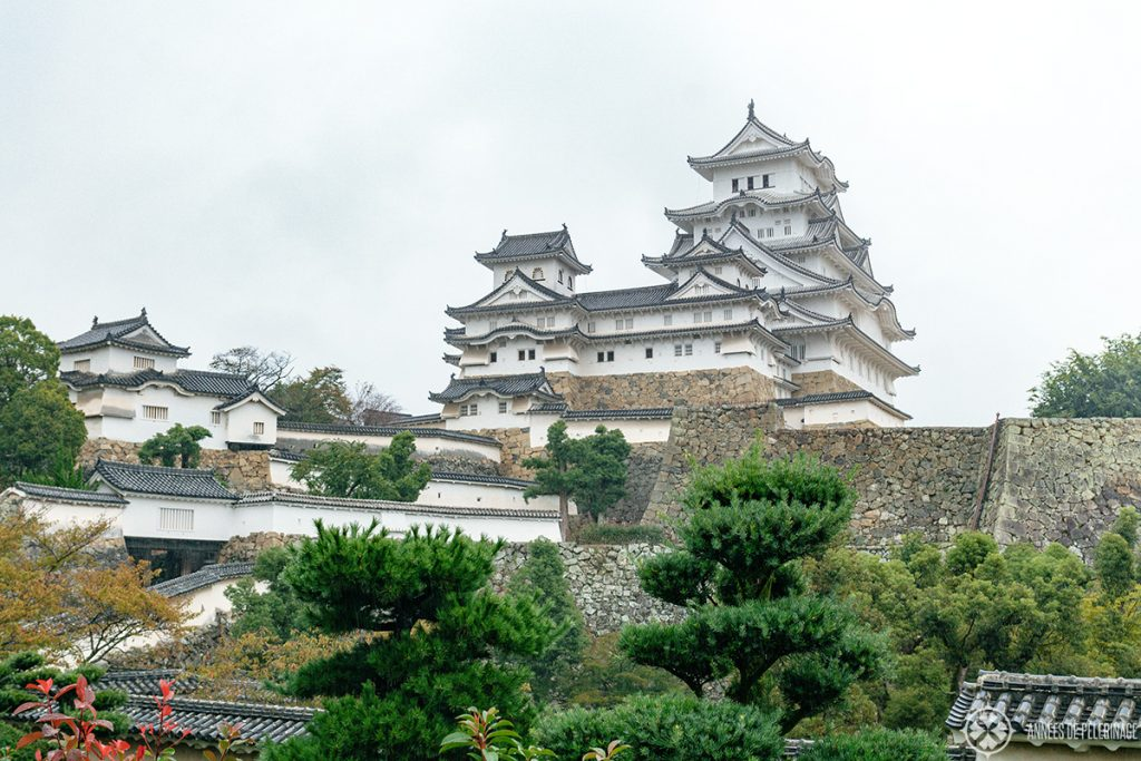 Himeji castle (on a rather cloudy day, no luck with the weather)