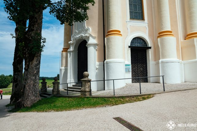 The entrance of the Church of Wies