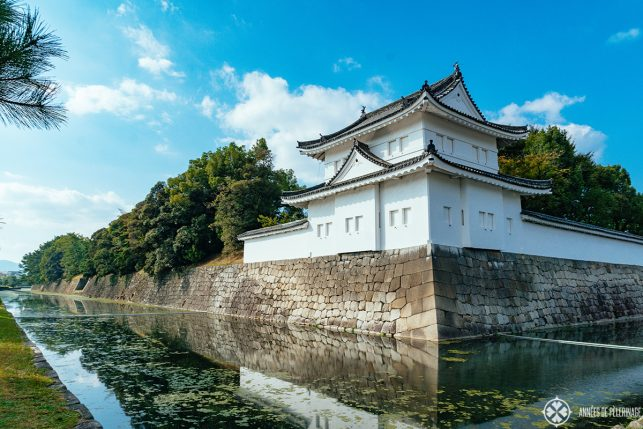 The giant moat around Kyoto Castle in Japan