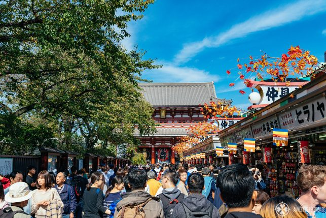 The appraoch to Senso-ji temple in Toyko
