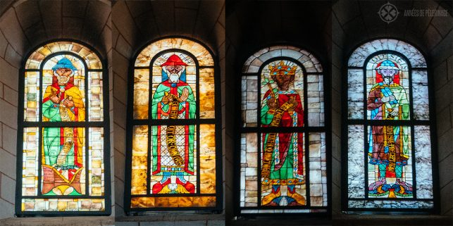 The famous 11th-century stained glass windows of Augsburg Cathedral