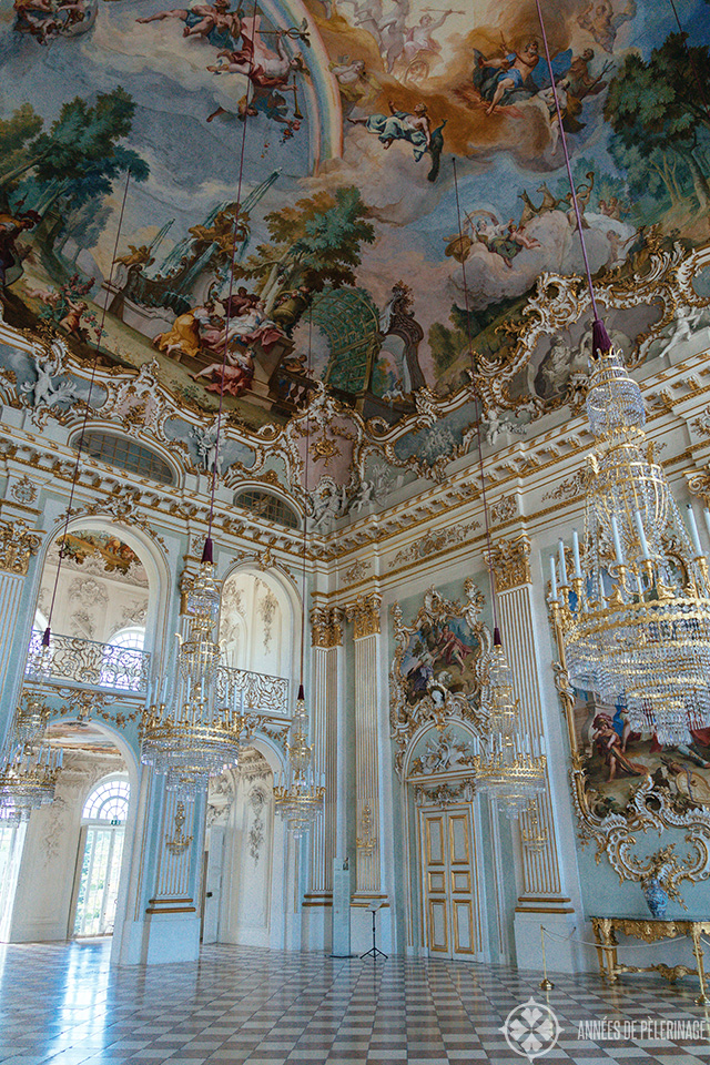 The Steinerner Saal in the center of Nymphenburg palace in Munich, Germany