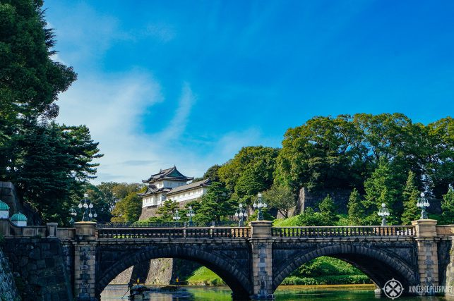 The famous bridge in front of the Imperial Palace in Tokyo, Japan