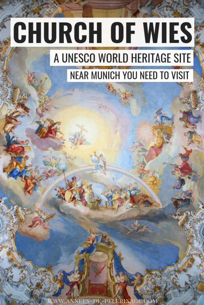 A tourist guide to the Wieskirche (Church of Wies) in Bavaria. The amazing UNESCO World Heritage site is home to amazing rococo frescos and one of the best day trips from Munich.