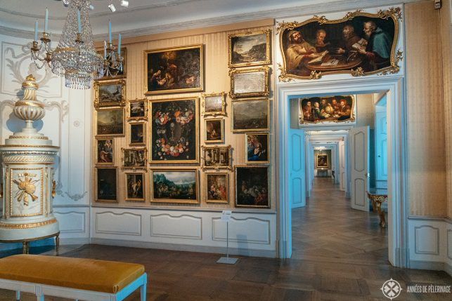 The Baroque art gallery inside the New Residence of Bamberg