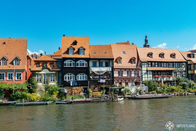 Half-timbered houses in Bamberg's Little Venice (KLein Venedig) on the RIver Regnitz