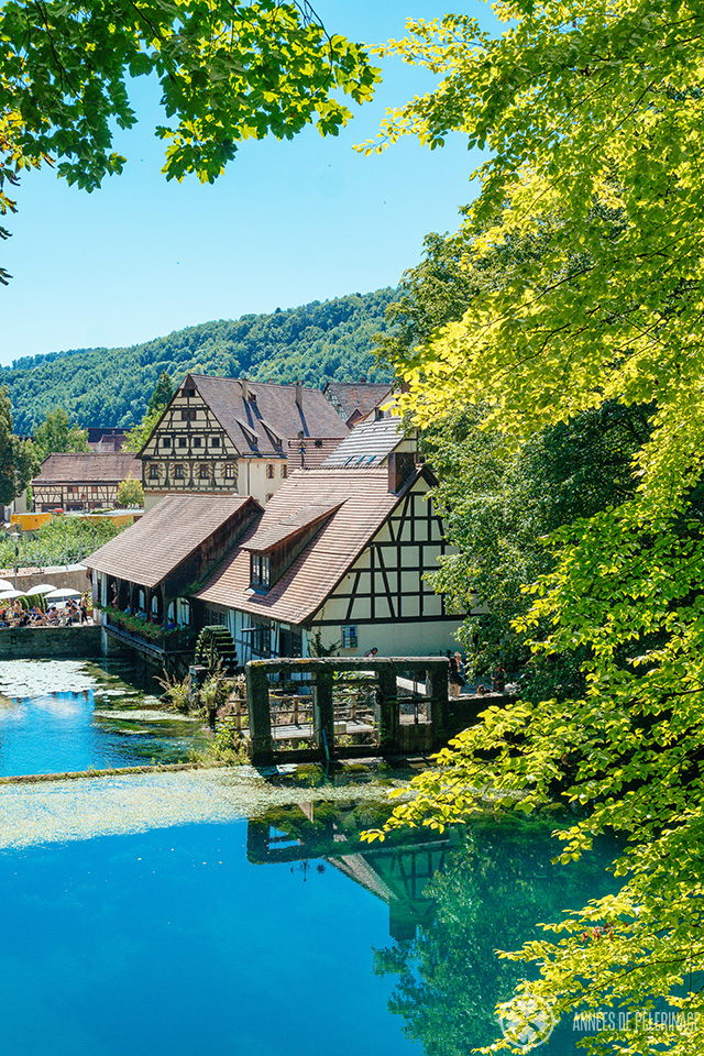 The blautopf karst spring in Blaubeuren near Ulm, Germany