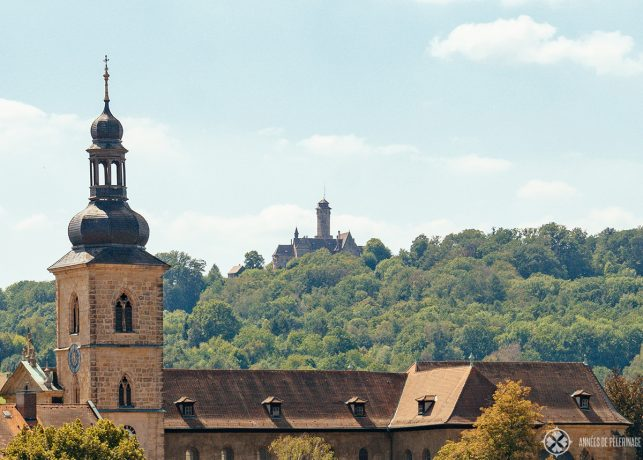 View of Altenburg Castle on a hill above Bamberg