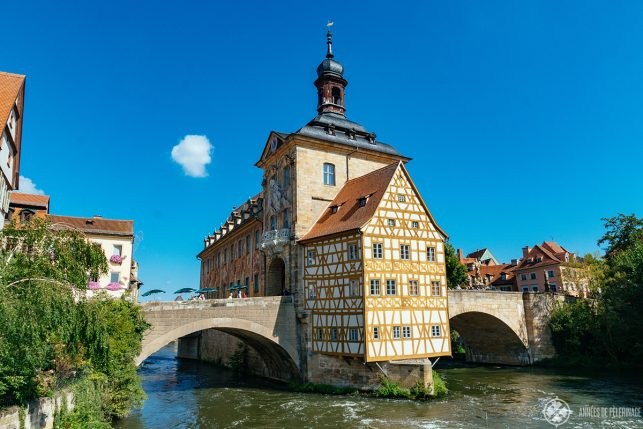 The medieval town hall of Bamberg, Germany.