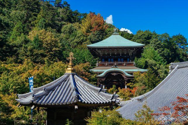 Roofs of the Daisho-in temple on Miyajima island