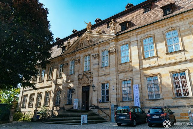 Entrance of the Diocese Museum where the treasury of Bamberg Cathedral is on display