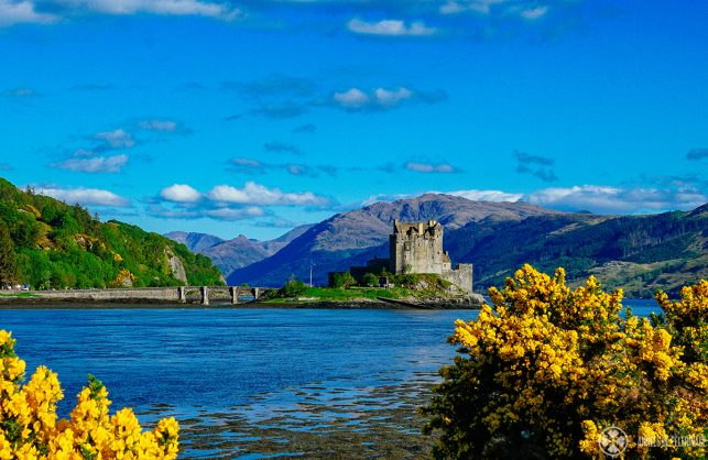 The Eilean Donan Castle in Scotland, not far from the Isle of Skye