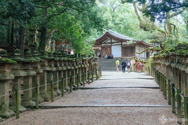 One of the smaller halls at Kasuga Taisha in Nara, Japan