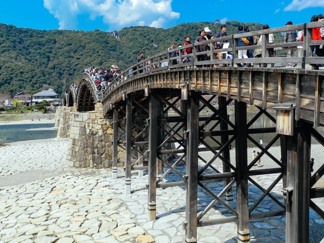 The kintai bridge - one of the longest wooden bridges in the world and certainly a top highlight in japan