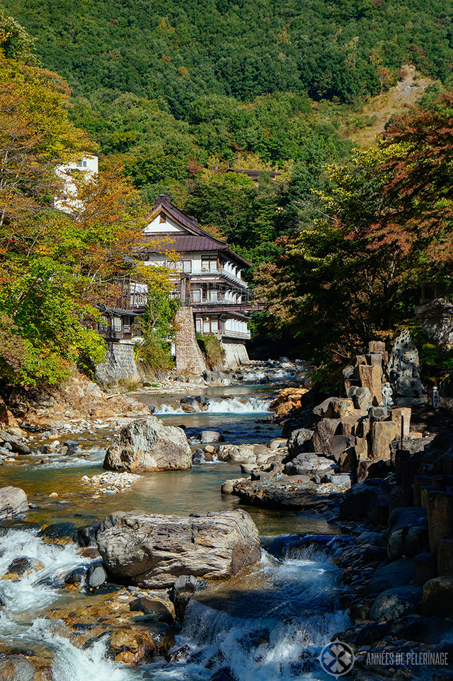 The scenic main building of the Takaragawa onsen resort