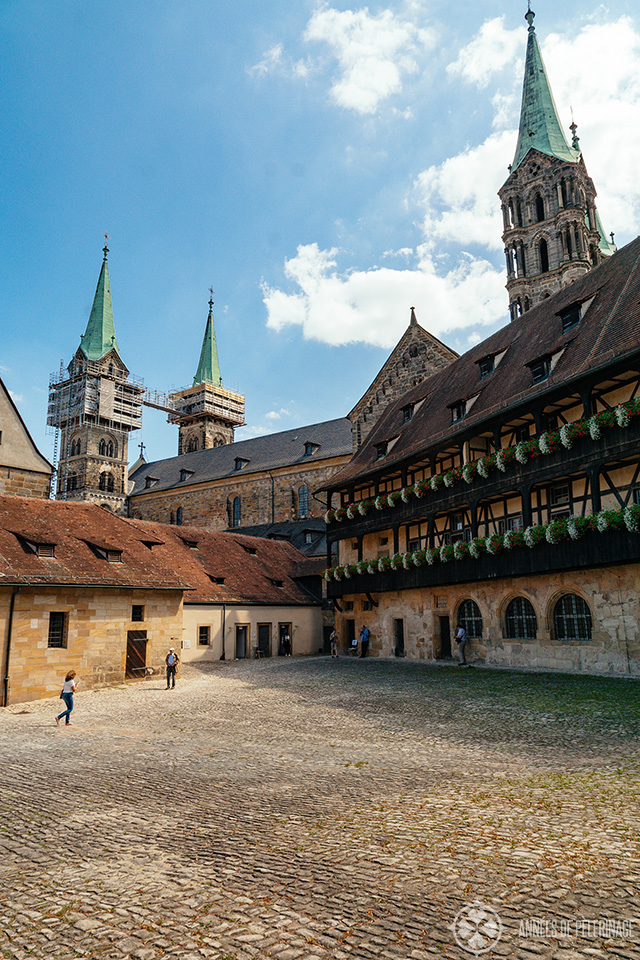 Inside the Old Court (alte hofhaltung) in Bamberg
