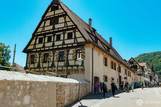 Old houses near the gate of Blaubeuren Abbey